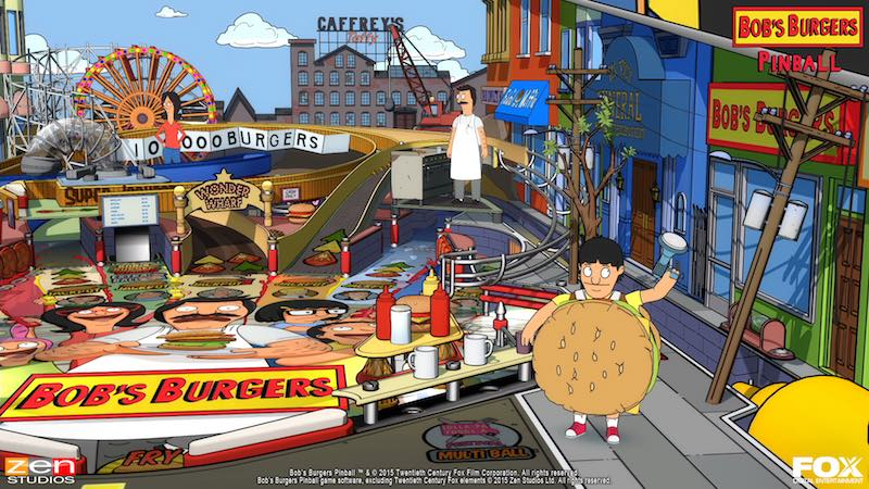 Bobs Burgers Balls Of Glory Zen Pinball 2 Pinball FX Archer Family Guy Bobs Burgers American Dad