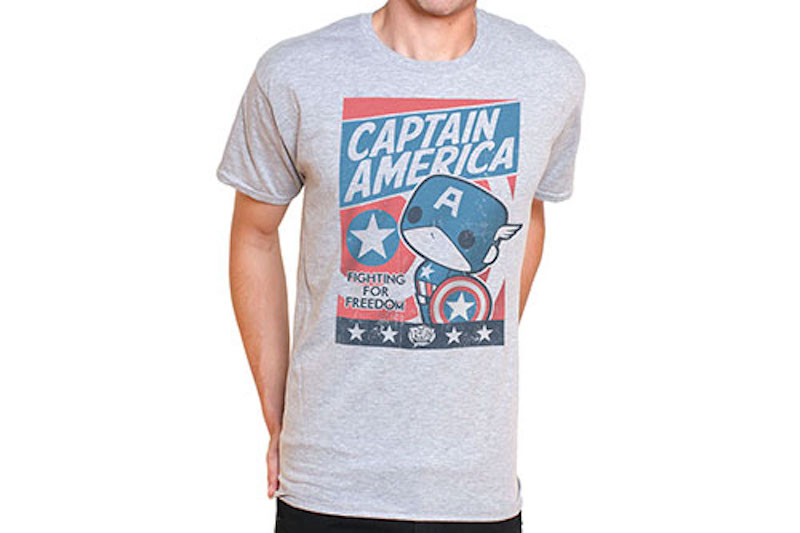 Funko Shirt Marvel Comics Captain America