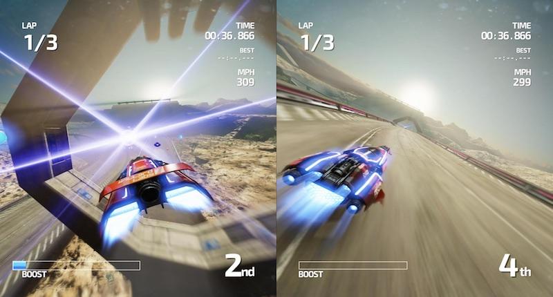 FAST Racing Neo split screen