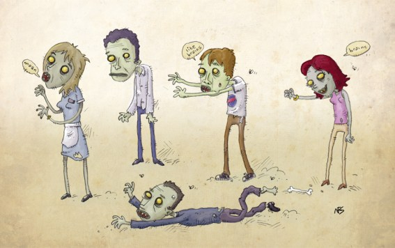 zombie at work