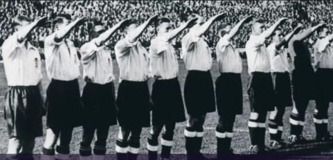 Nazi voetbal Engeland Duitsland Berlijn Berlin 1938 soccer Hitler