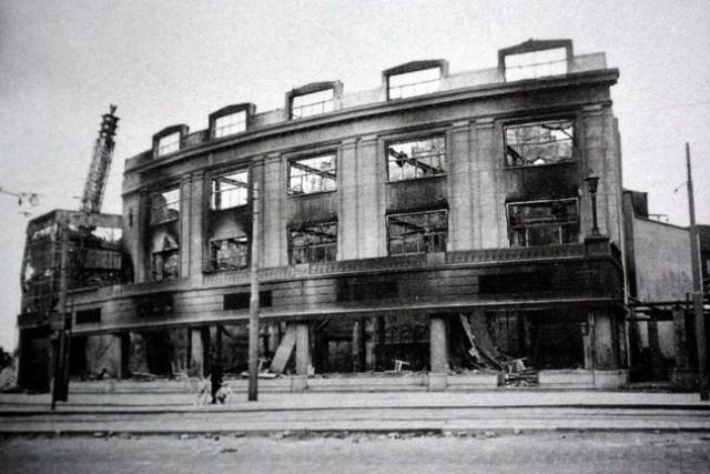 Pschorr, kort na het Duitse bombardement van 14 mei 1940