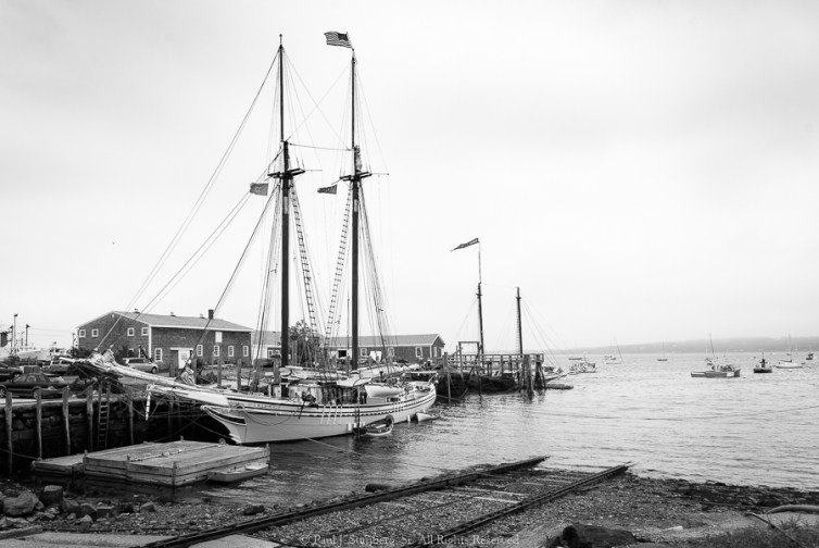 The schooner Heritage in Rockland Maine