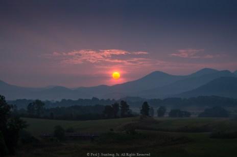 Sunrise at Blairsville Airport