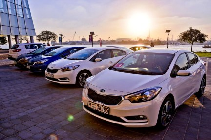 20130123-KIA Cerato Test Drive in Dubai 0850