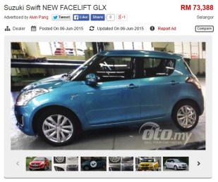 Suzuki Swift facelift oto ad
