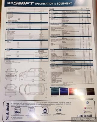 Swift Facelift Brochure 3