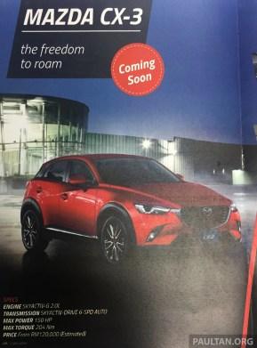 Mazda CX-3 MY newsletter 2