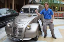 Arnout Everts bags Asia Klasika 2015 Best in Show trophy for his 1952 Citroen 2CV AU