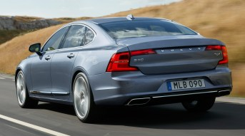 Rear Quarter Volvo S90 Mussel Blue 2