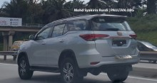 Toyota Fortuner Spyshots Tanjung Malim-03