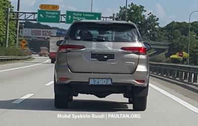 Toyota Fortuner Spyshots Tanjung Malim-05
