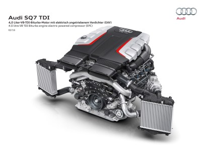 4.0 litre V8 TDI Biturbo engine electric powered compressor (EPC)