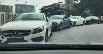 Mercedes-Benz C-Class Coupe spotted in Malaysia 3