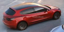 Tesla Model 3 hatchback rendering by Theo-01