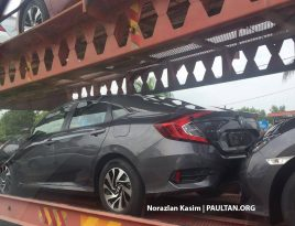 2016 Honda Civic spotted trailer 1