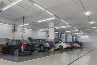 A total of 7 service bays