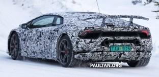 Lamborghini Huracan Performante spyshots 8