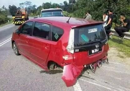 Perodua Alza rear axle seperated 1a