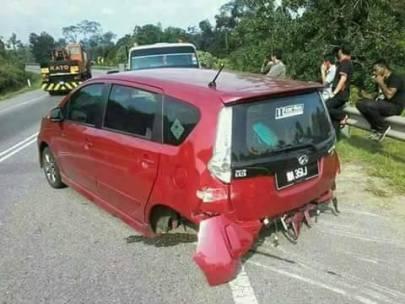 Perodua Alza rear axle seperated