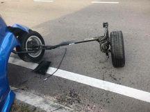 perodua myvi rear axle seperated
