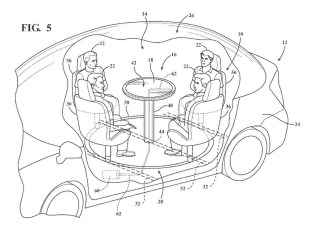 2017 Ford Retractable Table Patent