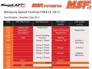MSF Finale 2017 schedule 1