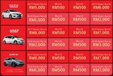 Honda Malaysia The Power of 3 Rewards 4