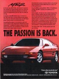90s MR2 Ad