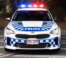 Kia Stinger GT Queensland police patrol car 2