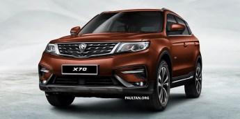 Proton X70 SUV 1 - Brown