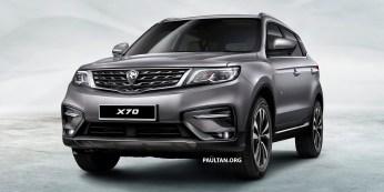 Proton X70 SUV 1 - Light Grey