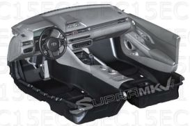 Toyota Supra interior render