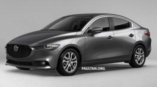 Mazda 2 sedan render 1