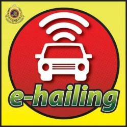 e-hailing sticker
