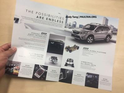 2019 Subaru Forester spyshots brochure Malaysia 6