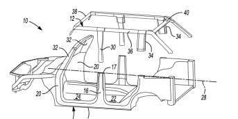 Ford Bronco roof patent