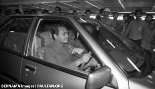 Tun Mahathir Proton Saga 1985 Bernama 1
