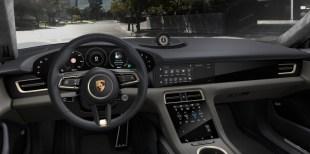 2021 Porsche Taycan Club Olea leather interior, Basalt Black Meranti Brown-1