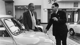 Sir Alec Issigonis and Charles Cooper