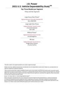 JD Power 2021 US Vehicle Dependability Study (4)