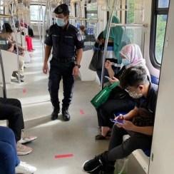 Police in train