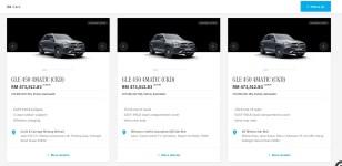 Mercedes GLE MBM inventory July 2021