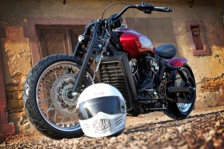 2021 Indian Motorcycle Metz Scout Bobber Red Wings - 17