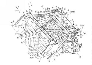 Mazda sports car rear body structure patent filing-11