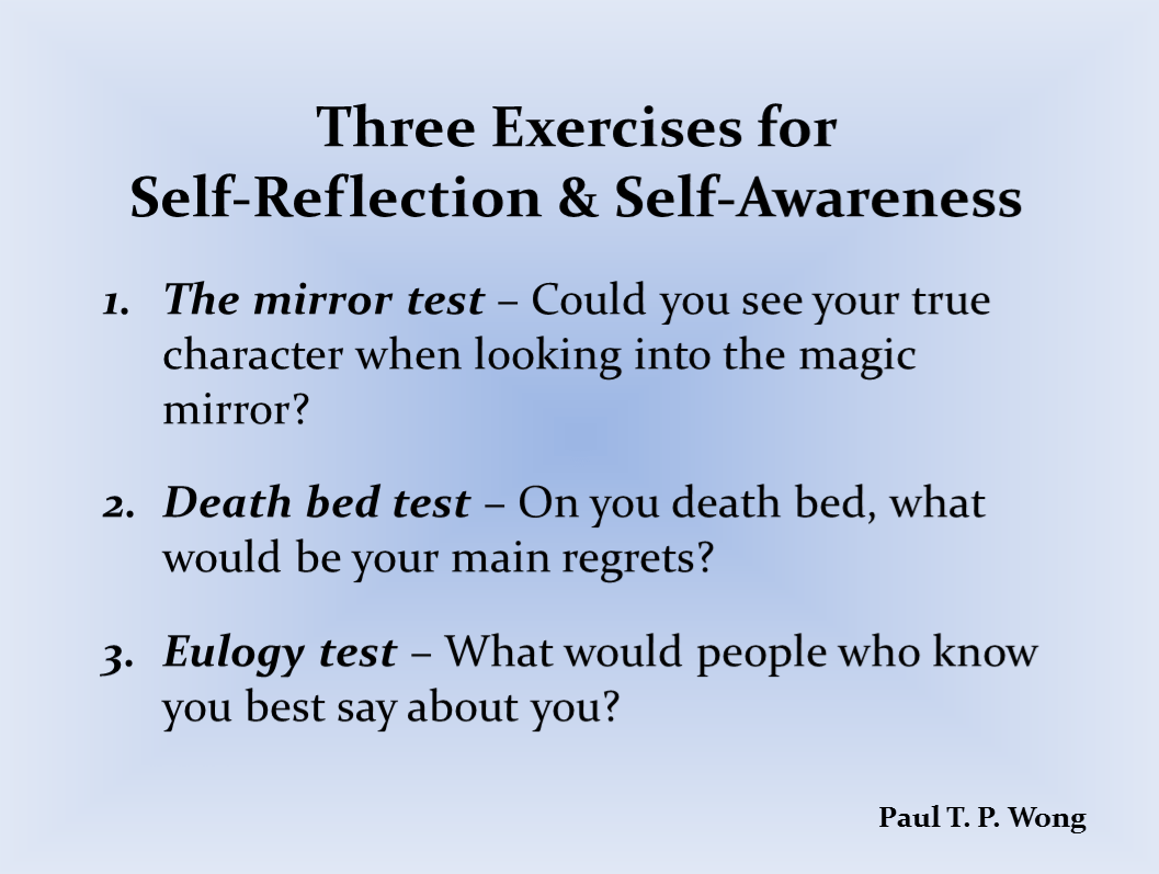 Exercises For Self Reflection And Self Awareness Dr Paul
