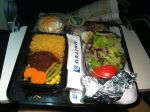 Tough chicken for dinner on United Airlines