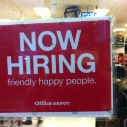 now hiring happy workers
