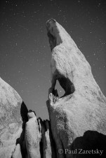Moonlit Rock Formation,Joshua Tree National Park, CA