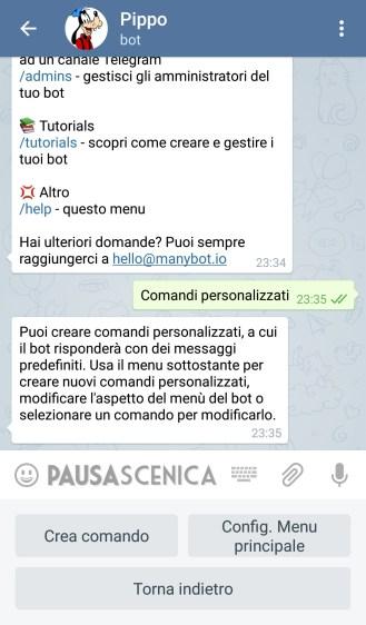 PippoPlutoPaperino - Comandi
